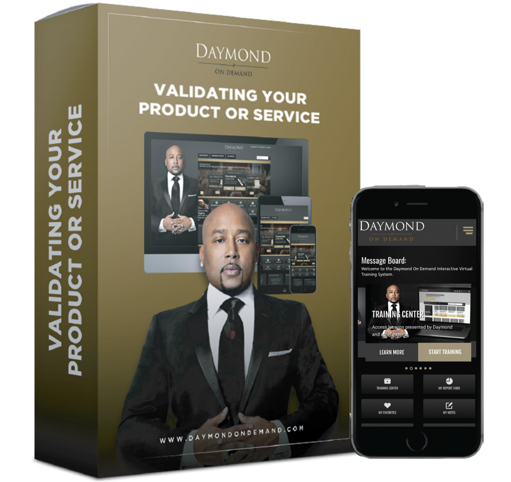 Daymond on Demand Product Validation online course