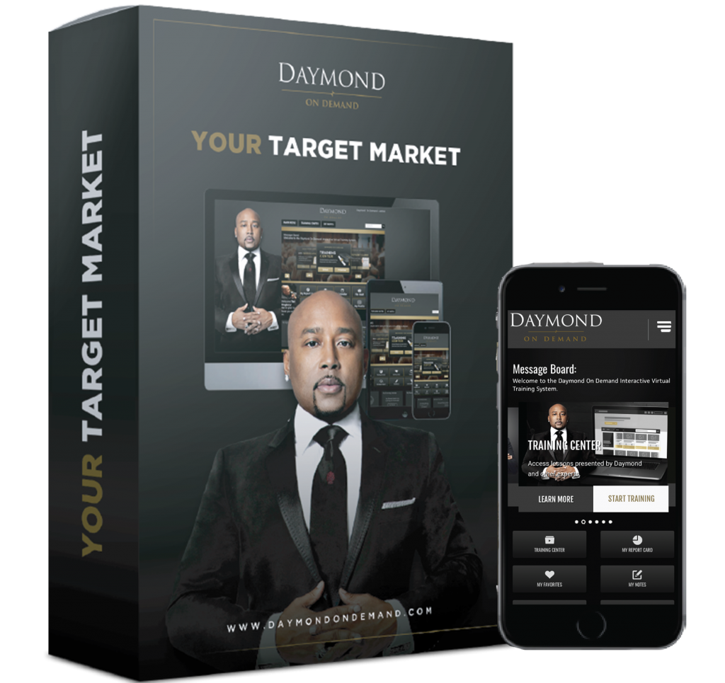 Daymond on demand Target Market online course