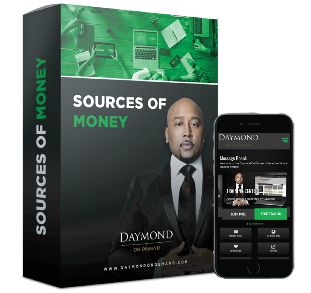 Daymond on Demand sources of money online course